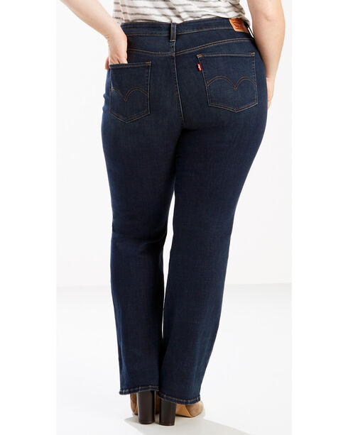 Levi's Women's 415 Classic Boot Cut Blue Jade Jeans - Plus Size, Indigo, hi-res