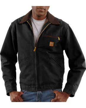 Carhartt Sandstone Detroit Work Jacket, Black, hi-res
