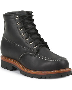 Chippewa Men's 1975 Original Insulated Trekker Mountaineer Boots - Moc Toe, Black, hi-res