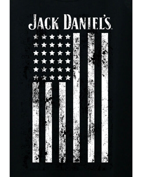 Jack Daniel's Women's Distressed Flag Tank Top , Black, hi-res