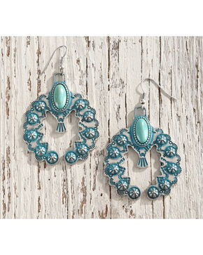 Shyanne Women's Day Dream Crescent Earrings, Turquoise, hi-res