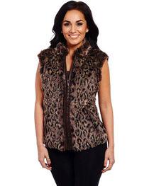 Cripple Creek Women's Leopard Sweater Vest, , hi-res