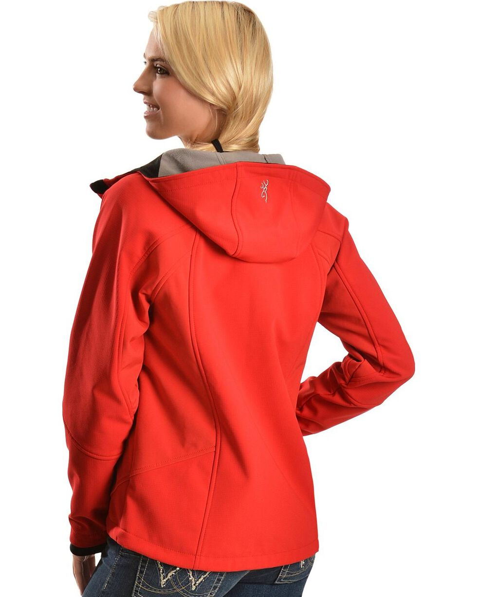 Browning Red Soft Shell Jacket, Red, hi-res