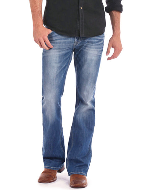 Rock & Roll Cowboy Men's Indigo ReFlex Pistol Jeans - Boot Cut , Indigo, hi-res