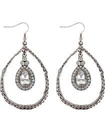 Shyanne® Women's Rhinestone Teardrop Earrings , , hi-res