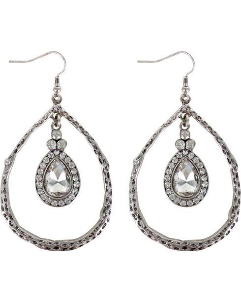 Shyanne® Women's Rhinestone Teardrop Earrings , Silver, hi-res