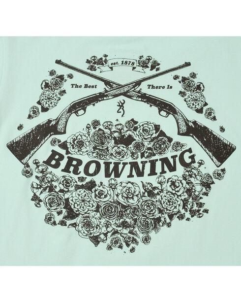 Browning Women's Light Blue Rifle Bouquet T-Shirt  , Light Blue, hi-res