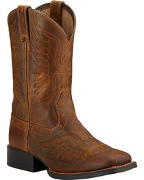 Ariat Kid's Honor Square Toe Western Boots, , hi-res