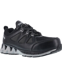 Reebok Men's Leather and Mesh Athletic Oxfords - Composite Toe, , hi-res