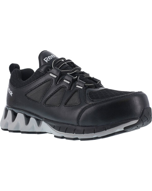 Reebok Men's Leather and Mesh Athletic Oxfords - Composite Toe, Black, hi-res