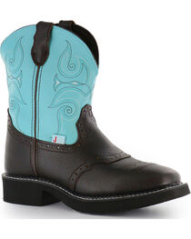 """Justin Women's 8"""" Gypsy Western Boots - Square Toe, , hi-res"""