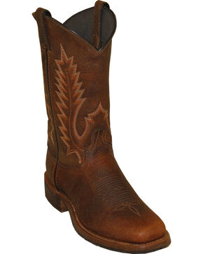 "Abilene Men's 11"" Pioneer Western Boots, Brown, hi-res"