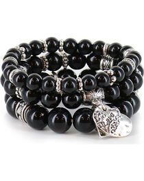 Shyanne® Women's Beaded Charm Bracelet , , hi-res