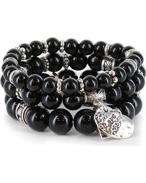 Shyanne® Women's Beaded Charm Bracelet , Silver, hi-res