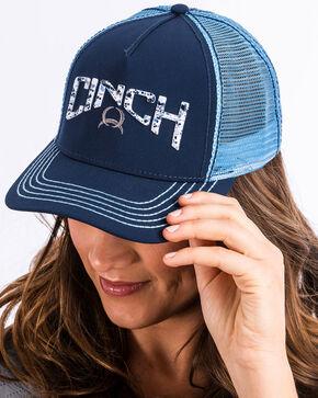 Cinch Women's Navy 3D Logo Splatter Print Trucker Cap , Navy, hi-res