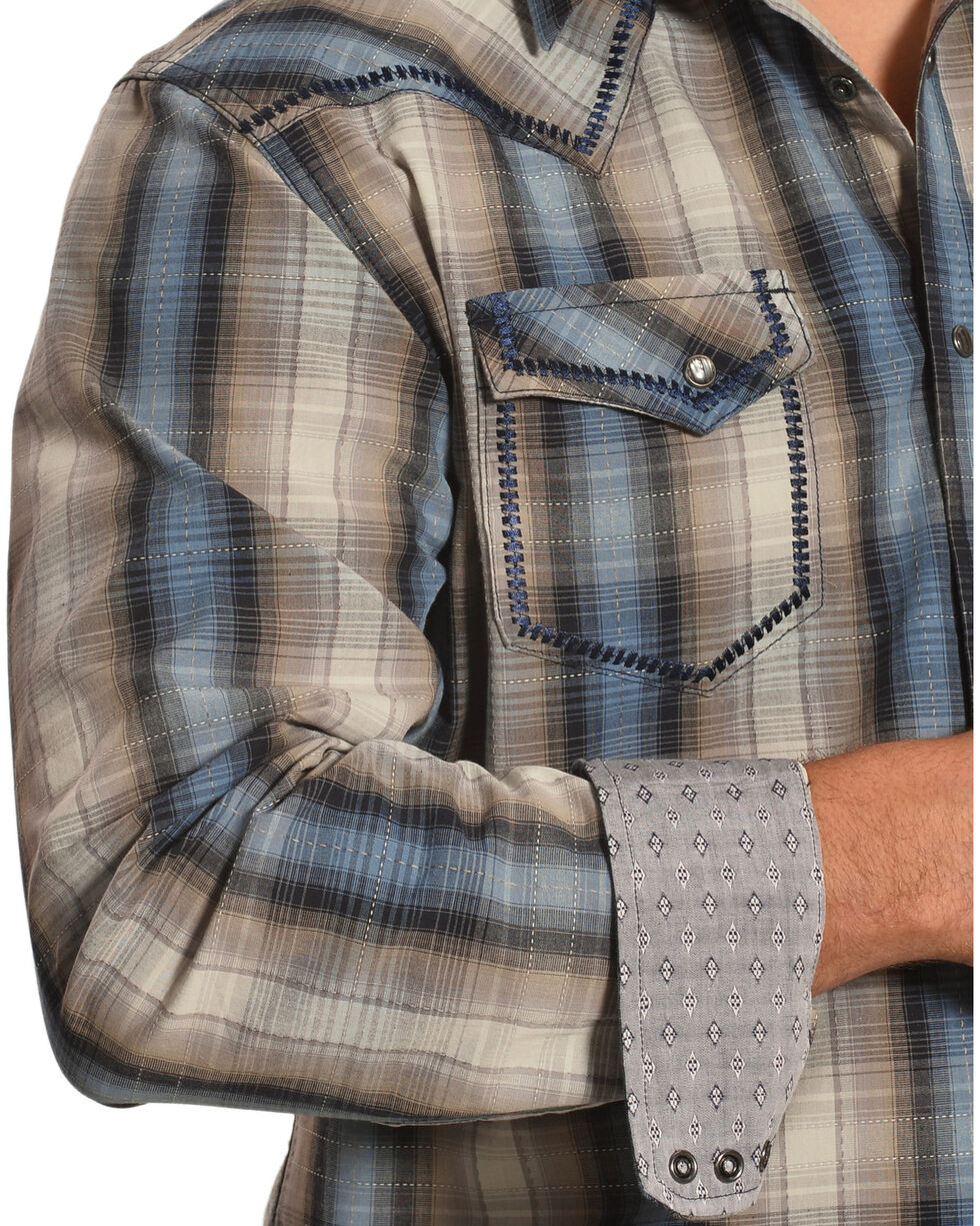 Moonshine Spirit Men's Tan Plaid Encampment Shirt , , hi-res