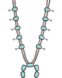 West & Co. Women's Turquoise Concho Squash Blossom Necklace, , hi-res