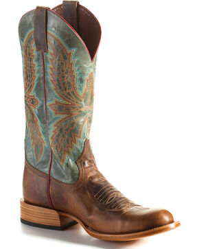 Anderson Bean Men's Rustic Embroidered Western Boots, Brown, hi-res