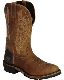Justin Original Work Men's Hybred Round Toe Western Work Boots, , hi-res