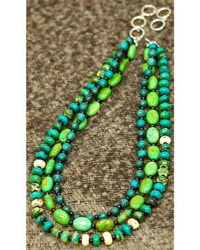 Isac West Three Strand Multi-Shape Turquoise Necklace, Turquoise, hi-res