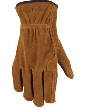 Carhartt Men's Suede Fencer Work Gloves, Brown, hi-res