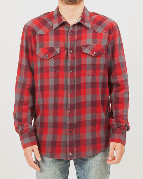Cody James Men's Plaid Long Sleeve Flannel, Red, hi-res
