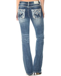 Grace in LA Women's Indigo Heavy Stitched Pocket Jeans - Boot Cut , , hi-res