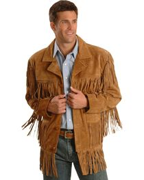 Liberty Wear Men's Suede Fringe Western Jacket - Big & Tall - 4XL, 5XL, , hi-res