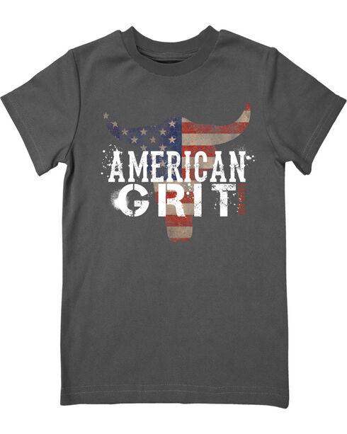 Farm Boy Boys' American Grit Tee, Grey, hi-res