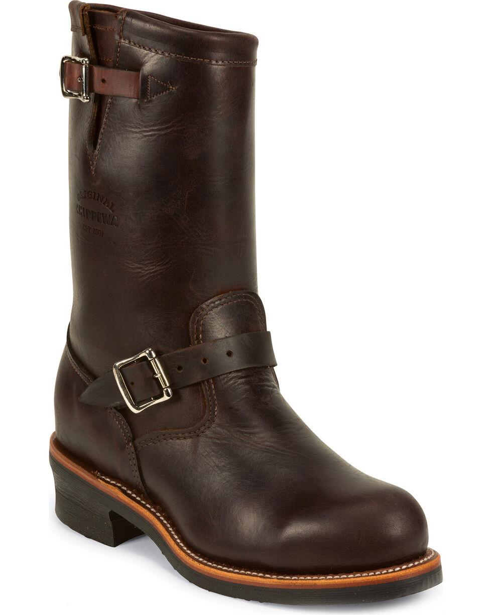 Chippewa Men's Cordovan  Engineer Boots - Steel Toe, Cognac, hi-res