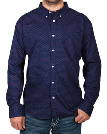 Cody James® Men's Dot Patterned Long Sleeve Shirt, , hi-res