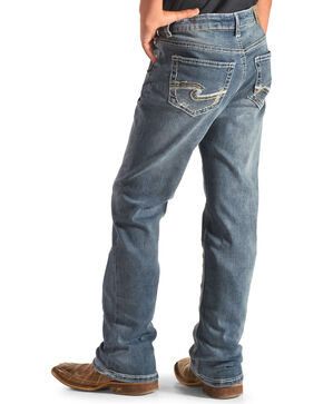 Silver Boys' (8-16) Indigo Zane Medium Wash Jeans - Boot Cut , Indigo, hi-res