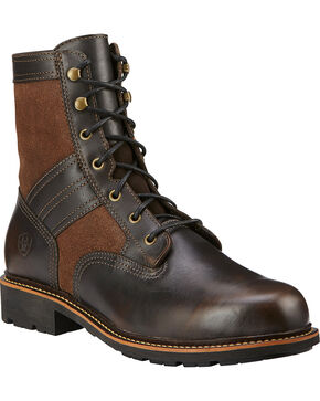 Ariat Men's Easy Street Lace up Fashion Boots, Bronze, hi-res
