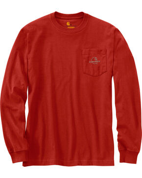 Carhartt Men's Workwear Graphic Carhartt Patch T-Shirt , Chilli, hi-res