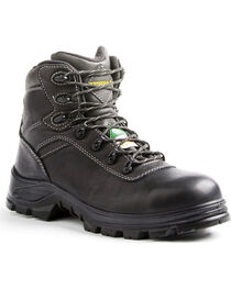 "Terra Men's Black 6"" Quinton Hiker Work Boots - Round Toe, , hi-res"