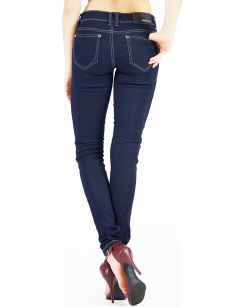Grace in LA Women's Indigo Lina Simple Jeans - Skinny , Indigo, hi-res