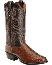 Tony Lama Men's Full Quill Ostrich Exotic Western Boots, , hi-res