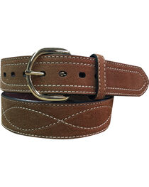 G Bar D Men's Rust Copper Suede Leather Belt , Rust Copper, hi-res