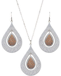 Montana Silversmiths Champagne Spark Jewelry Set, , hi-res