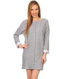Freeway Apparel Women's Long Sleeve Sweatshirt Dress, , hi-res