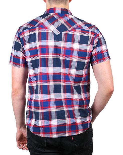 Levi's Men's Plaid Short Sleeve Shirt, Blue, hi-res