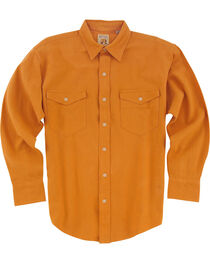 Resistol Men's Gold Austell Solid Long Sleeve Shirt , , hi-res