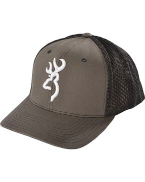 Browning Charcoal Grey Buckmark Flex Fit Cap - L/XL, Charcoal Grey, hi-res
