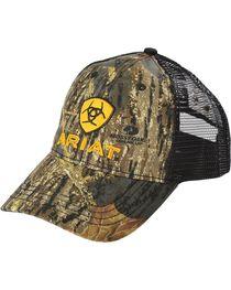 Ariat Men's Camo Embroidered Trucker Hat, , hi-res