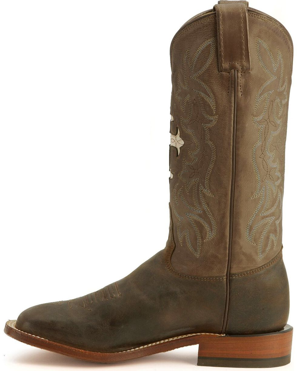 Tony Lama Women's San Saba Cross Western Boots, Chocolate, hi-res