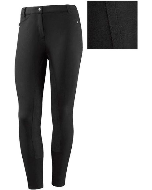 Ariat Women's Heritage Full Seat Riding Breeches, Black, hi-res