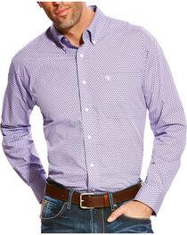 Ariat Men's Zilverton Classic Fit Wrinkle Free Print Long Sleeve Shirt, , hi-res