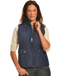 Jane Ashley Women's Navy Zig Zag Snap Vest, , hi-res
