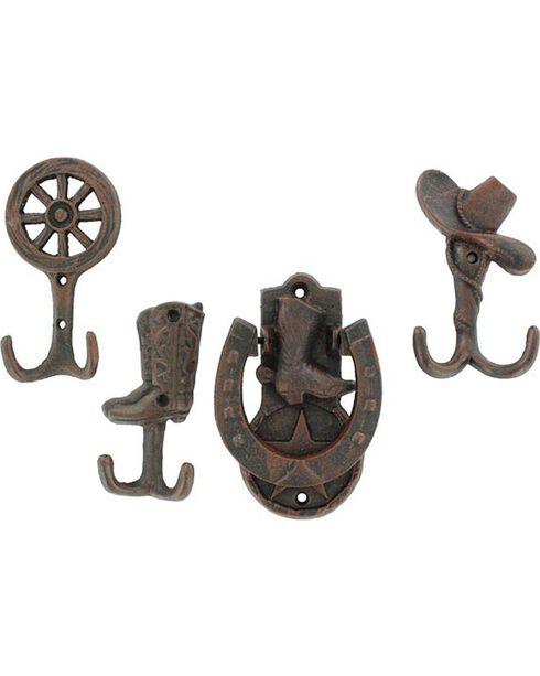 M&F Western Moments Door Knocker and 3 Piece Hanger Set, Brown, hi-res