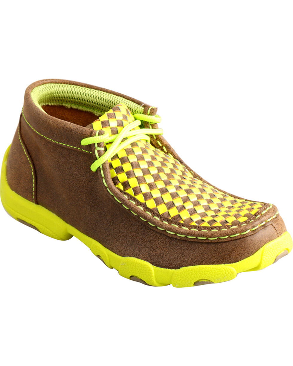 Twisted X Kids' Tall Checkered Driving Mocs, Bomber, hi-res